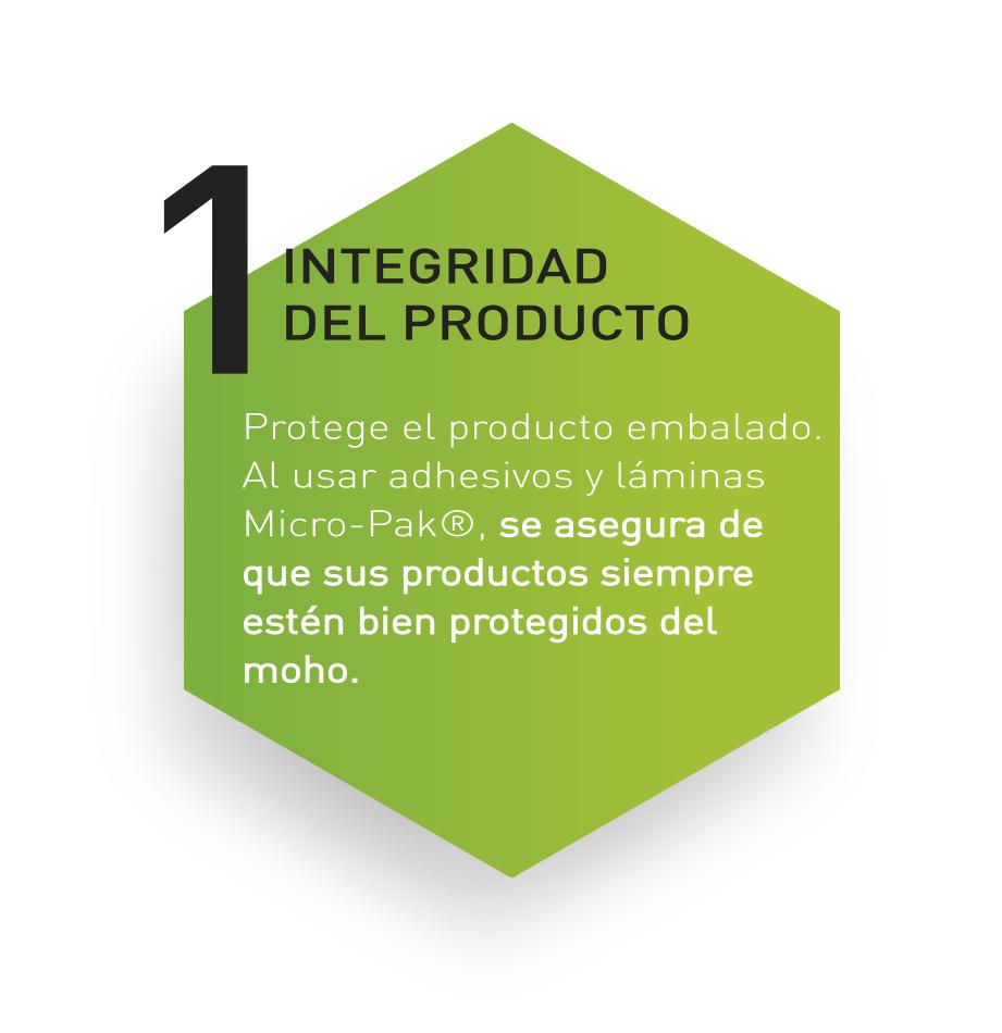 Micro-pak protege el producto embalado con pegatinas